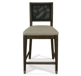Joelle Woven Gathering Height Chair Carbon Gray finish