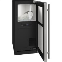 """1 Class 15"""" Nugget Ice Machine With Stainless Solid Finish and Field Reversible Door Swing, Pump Included (115 Volts / 60 Hz)"""