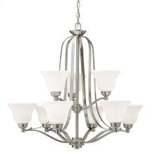 Langford 9 Light Chandelier Brushed Nickel