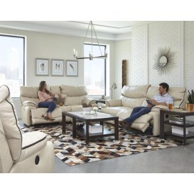 Lay Flat Reclining Console Loveseat w/ Strg, Cupholders, USB