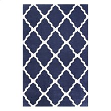 Marja Moroccan Trellis 8x10 Area Rug in Navy and Ivory