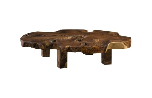 Chamcha Wood Coffee Table, Round