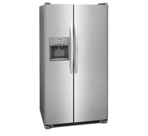 FRIGIDAIRE SIDE BY SIDE WITH SLIDE IN RANGE 4 PC PACKAGE
