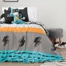 Superheroes Comforter Set \u0026 Throw Pillows - Black and White Product Image