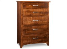Glengarry 5 Deep Drawer Hiboy Chest