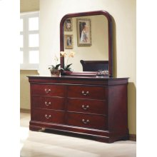Louis Philippe Red Brown Dresser Mirror