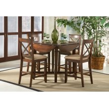 Cherry Drop Leaf Pub Table & 4 Chairs