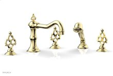 MAISON Deck Tub Set with Hand Shower 164-48 - Polished Brass