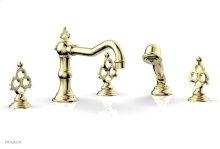 MAISON Deck Tub Set with Hand Shower 164-48 - Polished Brass