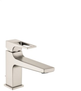 Brushed Nickel Metropol 100 Single-Hole Faucet with Loop Handle without Pop-Up, 1.2 GPM