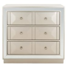 Sloane 3 Drawer Chest - Champagne / Nickel / Mirror