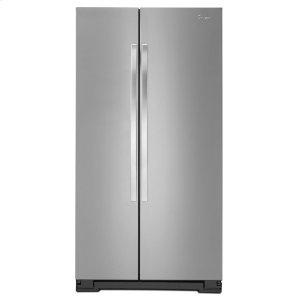33-inch Wide Large Side-by-Side Refrigerator with Greater Capacity and Adaptive Defrost - 22 cu. ft. - MONOCHROMATIC STAINLESS STEEL