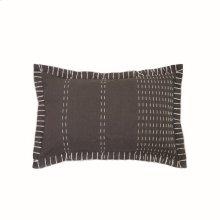 14X22 Hand Woven Kadin Pillow Gray