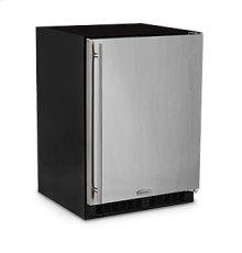 "24"" Refrigerator Freezer with Ice Maker  Marvel Premium Refrigeration - Solid Stainless Steel Door - Right Hinge"