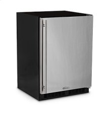 "24"" Refrigerator Freezer with Ice Maker  Marvel Premium Refrigeration - Solid Stainless Steel Door - Left Hinge"