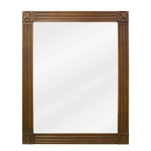 "20"" x 25"" Toffee mirror with beveled glass"