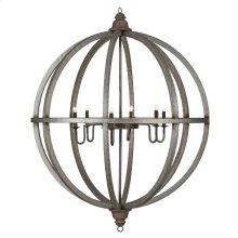 Infinity 4' Globe Chandelier w/ 6 Lights w/ Tin