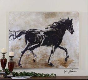 Blacks Beauty Hand Painted Canvas