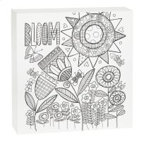 """""""Bloom"""" Flower Wall Block. Product Image"""