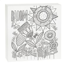 """""""Bloom"""" Flower Wall Block."""