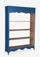(LS) La Salle Open Bookcase (wide) (49x16x70)-Blue bretagne Product Image