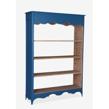 (LS) La Salle Open Bookcase (wide) (49x16x70)-Blue bretagne