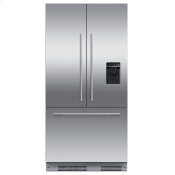 "Integrated French Door Refrigerator Freezer, 36"", Ice & Water"