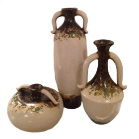 Brown-white Assorted Bottles (Set of 3)