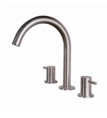 Three hole faucet with high round spout