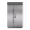 """Subzero 48"""" Classic Side-By-Side Refrigerator/freezer With Dispenser"""