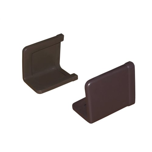 Bed Frame End Caps - Set of Two - Brown