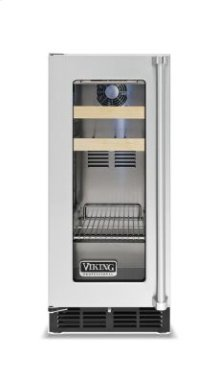 """15"""" Beverage Center, Clear Glass, Left Hinge/Right Handle"""