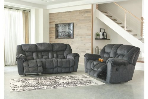 Capehorn Reclining Sofa - Granite