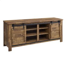 "Cheshire 70"" Rustic Sliding Door Buffet Table Sideboard in Walnut"