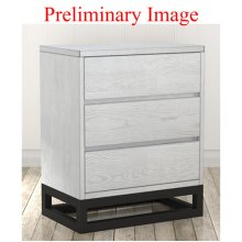 White Industrial Nightstand