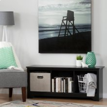 Cubby Storage Bench - Pure Black