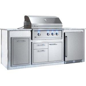 "XO APPLIANCEAppliance Ready Pre-Assembled 36"" Designer Island White"