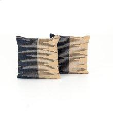 Square Pillow Style Reverse Stripe Pillow, Set of 2