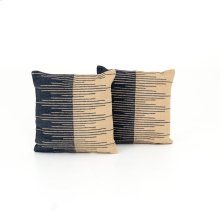 Square Pillow Style Reverse Stripe Pillow, Set of 2