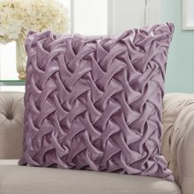 "Life Styles L0064 Lavender 22"" X 22"" Throw Pillows"