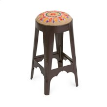 Nola Embroidered Seat Stool