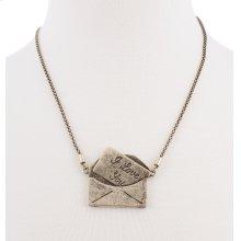 BTQ Burnished Gold Envelope Necklace