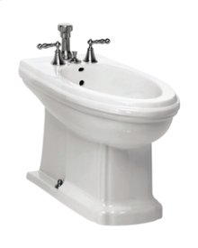 White BARRYMORE Floorstanding Bidet Vertical Spray