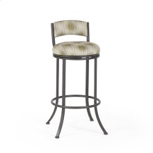 Monaco Swivel Stool, Uph. Back