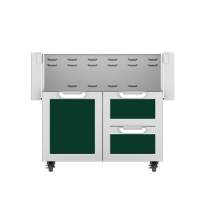 "Hestan36"" Hestan Outdoor Tower Cart with Door/Drawer Combo - GCR Series - Grove"