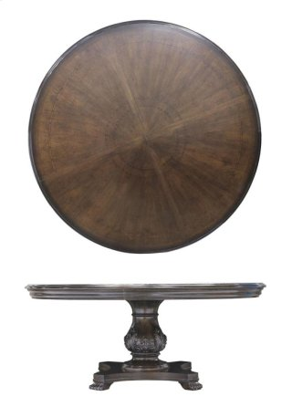 "Continental Round 66"" Dining Table - Weathered Nutmeg"