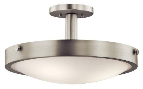 Lytham 3 Light Convertible Pendant Brushed Nickel