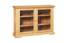 Den Bookcase (With Lead Glass Doors)