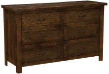 Six Drawer Dresser Red Canyon, Premium