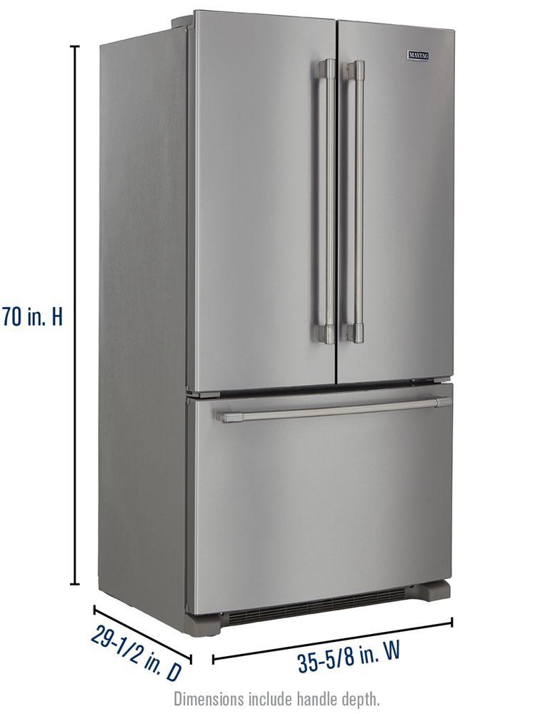 36 Inch Wide Counter Depth French Door Refrigerator 20